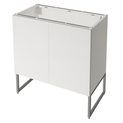 METOD FÖRVARA Base Cabinet 6 Front 6 Low Drawers White Voxtorp Walnut