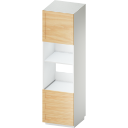 METOD MAXIMERA High Cab for Combi Micro 4 Drawers White Voxtorp Walnut