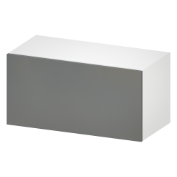 METOD Wall Cabinet with Shelves 2 Doors White Veddinge Grey