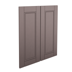 LAXARBY 2p door f corner base cabinet set black brown