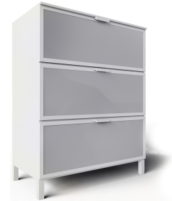 Aneboda White Chest of 3 Drawers