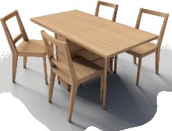 Gateleg table and Bertil Chairs