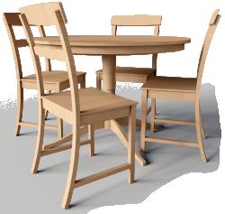 Leksvik Drop Leaf Table And Chairs