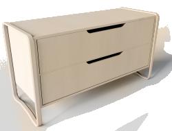 anes chest of 2 drawers brich veneer