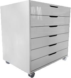 Alex drawer white