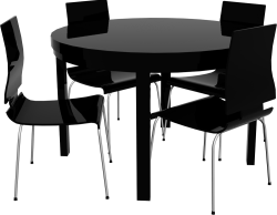 Round Bjursta Table and Chairs