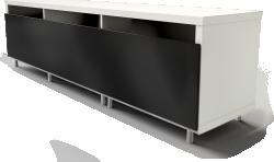 BESTA bench with legs