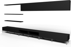 BESTA LACK storage combination black