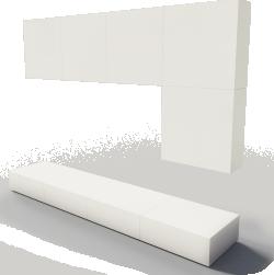 BESTA TV storage combination