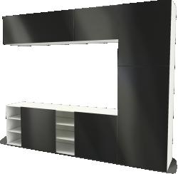 BESTA storage combination with sliding door black