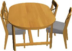 Leksvik Table And 4 Ingolf Chairs