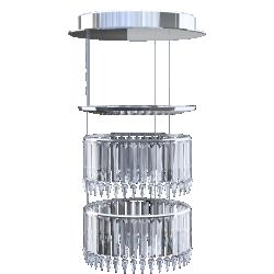 Lady Crinoline Comete 2 level LED chandelier