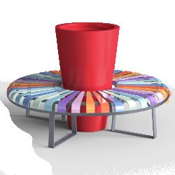 Banquette circulaire PASTEL
