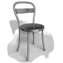 Souvignet Design Chaise DS No 1 acier brosse