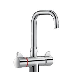 H9726 Mit. lavabo SECURITHERM therm. à bec orientable H.210 L.150