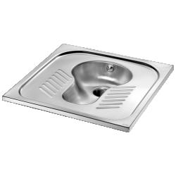 113610 WC turc SHA 700 1 effet d'eau sans siphon Ø1