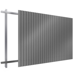 Steel single skin cladding in vertical position