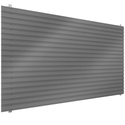 Steel single skin cladding in horizontal position