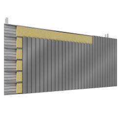 Steel double skin cladding vertical position trays 2 insulation beds