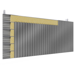 Steel double skin cladding V pos perforated trays 2 insulation beds