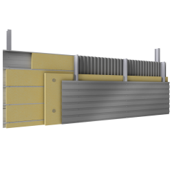 Multi skin cladding trays spacers insulation