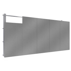 Steel facings s with panel cladding MW core V position secret fixing