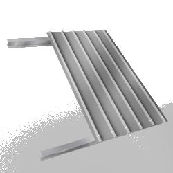Steel single skin roofing