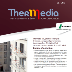 Thermedia Structural thermal ready mix concrete walls