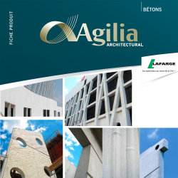 Agilia Architectural self placing ready mix concrete walls